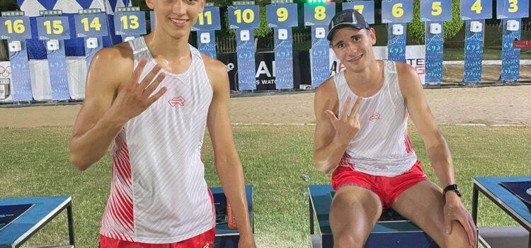 7 miejsce Kamila Kasperczaka i Macieja Klimka w rywalizacji sztafet męskich podczas Młodzieżowych Mistrzostw Świata w Aleksandrii